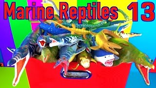 getlinkyoutube.com-DINOSAUR Box 13 TOY COLLECTION - MARINE REPTILES MOSASAURUS Unboxing Toy Review SuperFunReviews