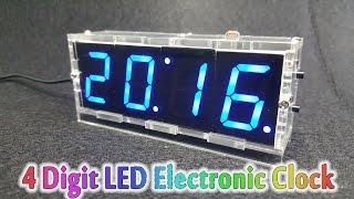 getlinkyoutube.com-How To Assembling 4 Digit LED Electronic Clock Kit Temperature