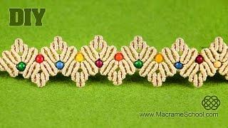 getlinkyoutube.com-ZigZag Macramé Petal Bracelet Tutorial | Macrame School