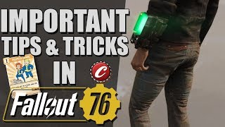 Fallout 76 Important Tips And Tricks