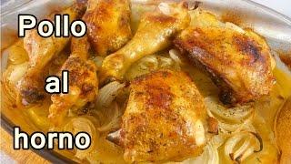 getlinkyoutube.com-POLLO AL HORNO CON PAPAS Y CEBOLLA - recetas de cocina faciles rapidas y economicas