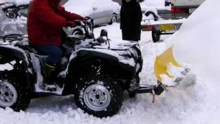 getlinkyoutube.com-ATV MOOSE RM4  SNOW PLOW GRIZZLY スノープラウ 排土板 除雪機 バギー