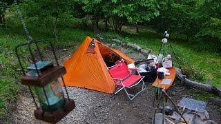 getlinkyoutube.com-ソロキャンプを楽しもう。 くりの木キャンプ場でソロキャンプ ①