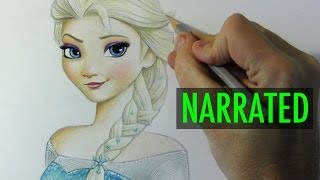 "getlinkyoutube.com-How to Draw Elsa from ""Frozen"" [Narrated Step-by-Step]"