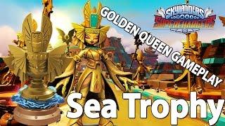 getlinkyoutube.com-SKYLANDERS SUPERCHARGERS - Sea Racing Pack - Golden Queen Trophy Gameplay [HD] Deutsch | EGOWHITY