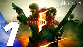 getlinkyoutube.com-Resident Evil 5 (PS4) - Gameplay Walkthrough Part 1 - Prologue [1080P 60FPS]