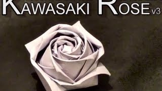 getlinkyoutube.com-Conrad's Modified Kawasaki Origami Paper Rose - Tutorial v3.