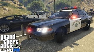 GTA 5 LSPDFR Police Mod 110 | California Highway Patrol | CHP Ford Crown Vic Enforcing Traffic Laws