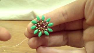 getlinkyoutube.com-TUTORIAL ORECCHINI GIRASOLE SUPERDUO(Tutorial earrings sunflower)