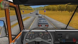 getlinkyoutube.com-City Car Driving - Kamaz 5511