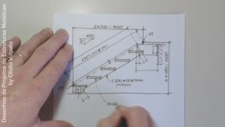 getlinkyoutube.com-Escada de Lance - Desenho de Projetos de Estruturas Metálicas, by Olídio Volpato - Lay-out de Cargas