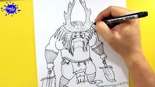 getlinkyoutube.com-How to draw Kai Kung fu panda / Como dibujar a Kai kung fu panda / Kung Fu panda 3