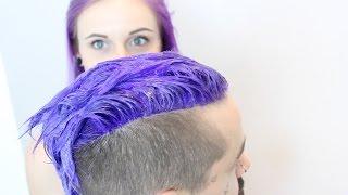 getlinkyoutube.com-Ultra Violet Hair Transformation On My Boyfriend!