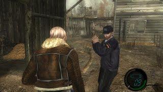 getlinkyoutube.com-Resident Evil 4 Mod Parceiro Campanha 100% Leon e Policial