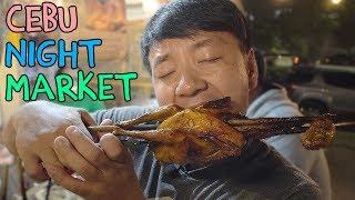 FEASTING at Cebu Philippines Night Market: BEST Roast Chicken! width=