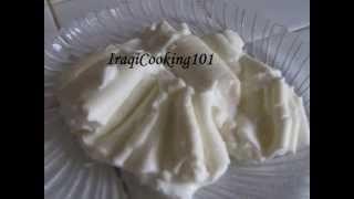 getlinkyoutube.com-how to make Iraqi Qemar creme  recipe طريقة القيمر العراقي الذيذ