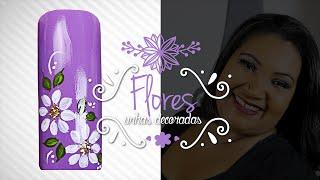 getlinkyoutube.com-Unhas Decoradas com Flores Simples (Iniciantes)   Cola na Villar