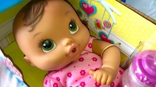 getlinkyoutube.com-Brunette Baby Alive Luv n Snuggle Doll UnBoxing
