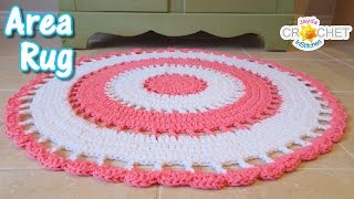 Beautiful Area Rug - Crochet Tutorial width=