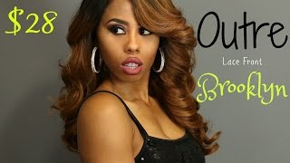 getlinkyoutube.com-Outre Synthetic Swiss Lace Front Wig- Brooklyn (COLOR: DR30) * BlackHairSpray.Com *