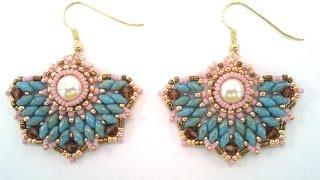 getlinkyoutube.com-Beading4perfectionists: Art Deco stylish earrings beading tutorial