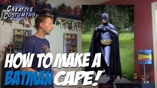 getlinkyoutube.com-How to Make a Batman Cape and Hood Tutorial
