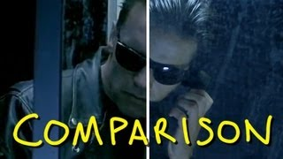 "getlinkyoutube.com-Terminator 2 - ""Your Foster Parents Are Dead"" - Homemade T2 Judgment Day (Comparison)"