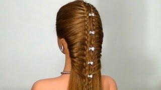 getlinkyoutube.com-Легкая прическа на каждый день! Easy hairstyle for every day