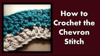 getlinkyoutube.com-How to crochet the chevron stitch