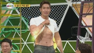 getlinkyoutube.com-[World Changing Quiz Show] 세바퀴 - Jung kyeo woon has unveiled strong Abdominal muscles 20150710