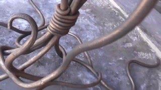 getlinkyoutube.com-кованая подставка для цветов своими руками патина холодная ковка
