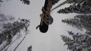 getlinkyoutube.com-Snowboarding on the Ridge