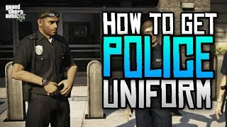 getlinkyoutube.com-GTA 5 Online How To Wear The POLICE UNIFORM IN FREE ROAM! How To Get Banned Outfits (GTA 5 Glitches)
