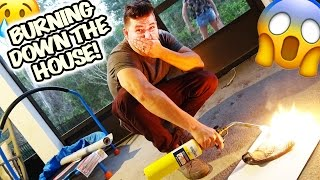getlinkyoutube.com-😱 BURNING DOWN THE HOUSE! (NOT REALLY) 3000 DEGREE TORCH VS. FIRE RESISTANT GLOVE 😱