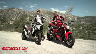 getlinkyoutube.com-2013 MV Agusta Brutale 800 vs Ducati 848 Streetfigher