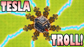 getlinkyoutube.com-Clash of Clans - THE TOWN HALL 9 NOOB TROLL BASE! Trap Trolling in High Trophies with TH9