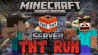 SERVER TNT RUN en MINECRAFT PE 2016