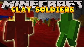 getlinkyoutube.com-Minecraft War - CLAY SOLDIERS BATTLE!