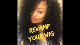 getlinkyoutube.com-How to Revive/Refresh Your Curly Synthetic Wig | featuring Outre Dominican Curly Wig