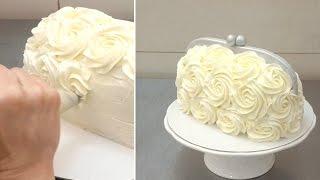 getlinkyoutube.com-Handbag Buttercream Cake - Piping Buttercream Roses