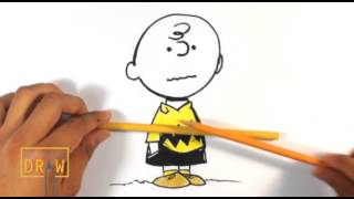 getlinkyoutube.com-How to Draw Charlie Brown from Peanuts - Easy Things to Draw