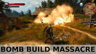 getlinkyoutube.com-Witcher 3 Bomb build - massacring enemies