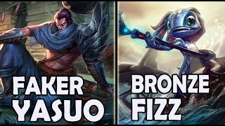 getlinkyoutube.com-FAKER plays YASUO vs A Korean BRONZE FIZZ