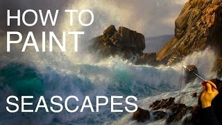 getlinkyoutube.com-How to paint a seascape: EPISODE TWO | How to paint waves and water