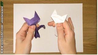getlinkyoutube.com-Кошечка из бумаги / Оригами из бумаги на русском