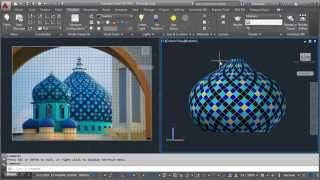 getlinkyoutube.com-AutoCAD Create Texture and Mapping Dome