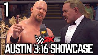 "WWE 2K16 - 2K Showcase - ""Austin 3:16"" Part 1 [WWE 2K16 Showcase Mode Ep 1]"