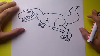 getlinkyoutube.com-Como dibujar un dinosaurio paso a paso 6 | How to draw a dinosaur 6