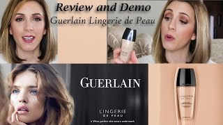 getlinkyoutube.com-Guerlain Lingerie De Peau Foundation ~ Review & Demo with a Chit Chat