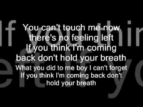 Nicole Scherzinger - Don't Hold Your Breath - Lyrics -4KELSQEnoD8